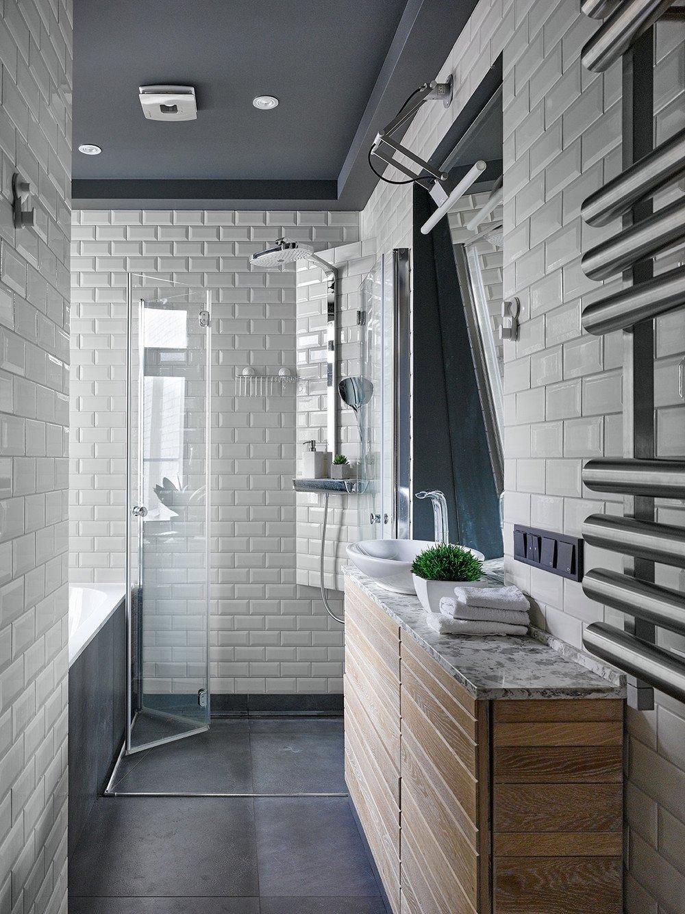 6,2 m2 fürdőszoba loft stílusban (4 kép + alaprajz)  Szárazépítészeti Design